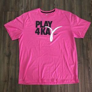 "Pink ""Play 4 Kay"" Nike Dri-Fit Shirt"